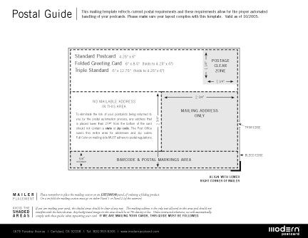 Guidelines For Postcard Design D E S I G N Pinterest