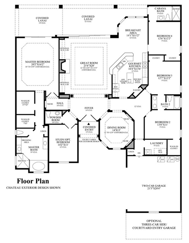 Aramis floor plan house plans medium to ginormous for Medium house plans