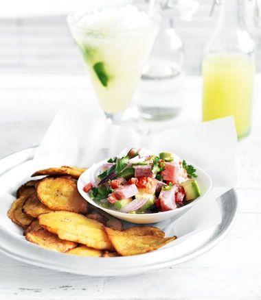 Plantain Chips with Tuna Ceviche | Paleo : Primal : sugar free : grai ...