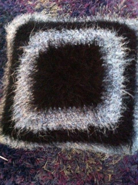 Novelty yarn pillow