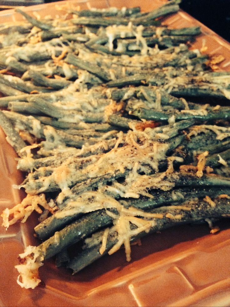 Crispy Baked Parmesan Green bean Fries~ Ingredients 4 cups of fresh ...