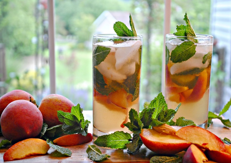 Ginger peach peppermint juleps | Martini's and/or Mojito's, darling ...