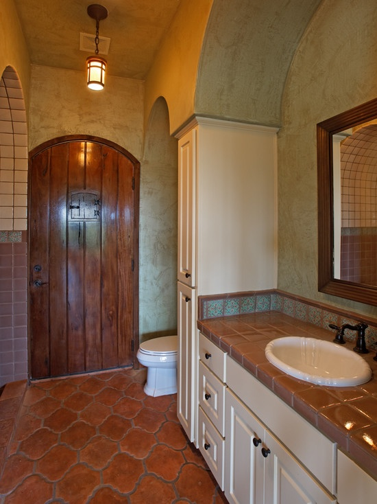 Pin by linda wiley on south of the border southwest for Mexican themed bathroom ideas