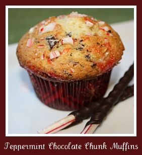 Peppermint Chocolate Chunk Muffins | Desserts | Pinterest