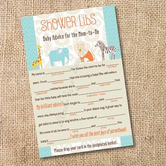 ikat safari printable baby shower mad libs by allisonkizerdesigns 8