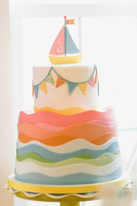 Boat Birthday Cake Images : Sailing boat cake Event Cakes-Cupcakes Pinterest