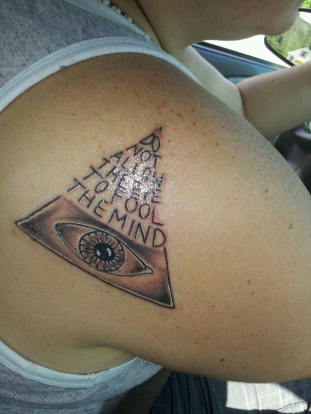 #third eye #tattoo #quote #all seeing eye | My tats ...