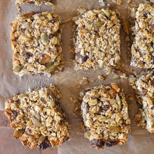 Recipe: Cakey, Oaty, Fruit- and Seed-Packed Energy Bars. Gluten free ...