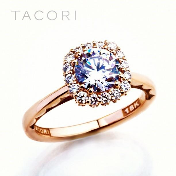 A custom Rose Gold ring from TACORI Jewelry