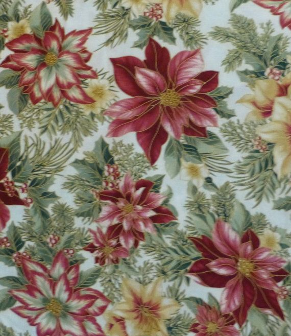 Cotton Fabric, Quilt , Home Decor, Craft Fabric, Christmas, Holiday ...