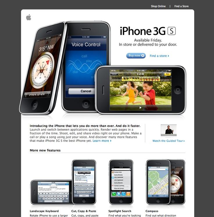 apple iphone promo email marketing pinterest. Black Bedroom Furniture Sets. Home Design Ideas
