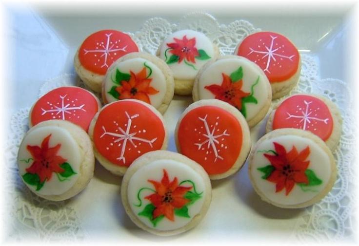 Poinsettia cookies | ALL THINGS POINSETTIA | Pinterest