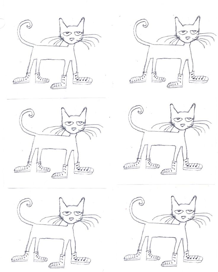 Image Result For Pete Cat Coloring Page Teach Pete Cat