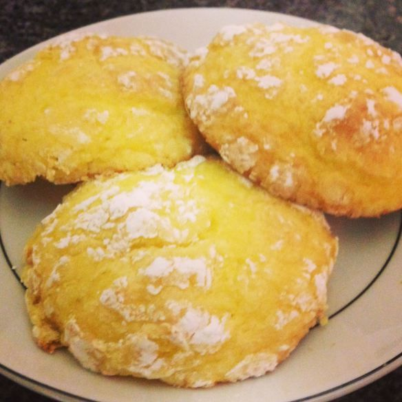 Lemon Cool Whip Cookies, just omit the eggs otherwise they are too ...