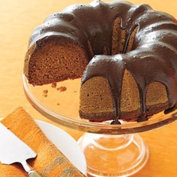 Pumpkin Treats: Chocolate-Glazed Pumpkin Cake