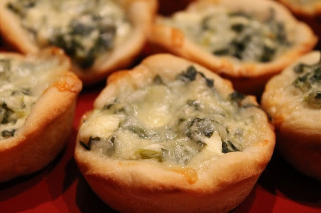 Baked Spinach Dip Mini Bread Bowls Dragonfly Designs: Spa Night Appies