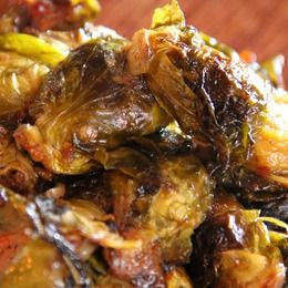 Roasted Brussels Sprouts with Red Chile & Maple from Chef Dave Martin