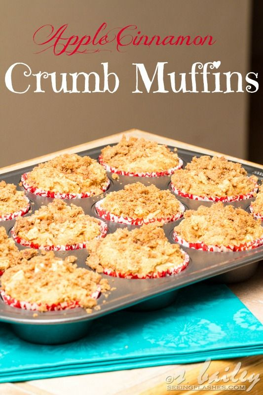 Skinny Apple Cinnamon Crumb Muffins - good for quick mornings at the ...