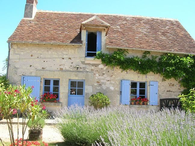 French Farmhouse with Blue Shutters French Farmhouses and Ideas