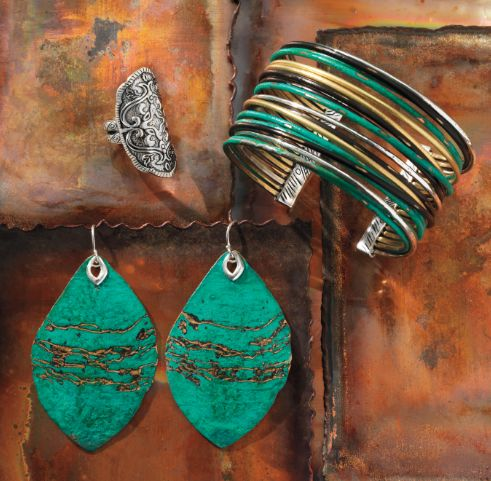 #Silpada Heritage Collection: Helen of Troy Ring, Fresco Cuff, Cayman Earrings #Patina