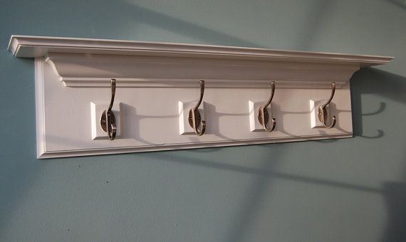Decorative Wall Shelf With Hooks Mantle Rack :