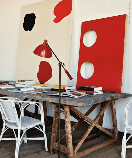 The Decorista-Domestic Bliss: office space of the day...Radically Red