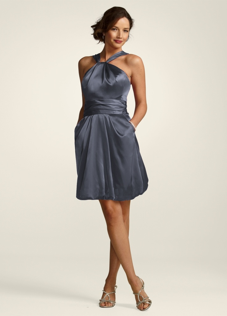 84177 david 39 s bridal in pewter bridesmaids dresses for Davidsbridal com wedding dresses