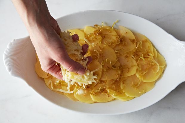 Scalloped Potatoes with Caramelized Onions | Recipe