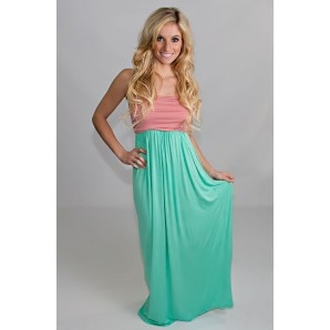dusty rose mint maxi dress would be perfect for my baby shower