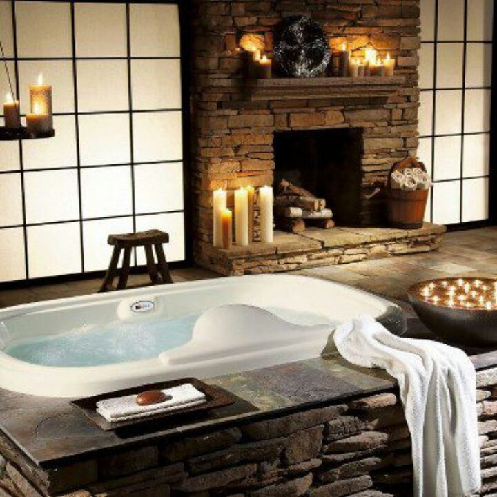 Every Master Bathroom Needs A Fireplace Buildable