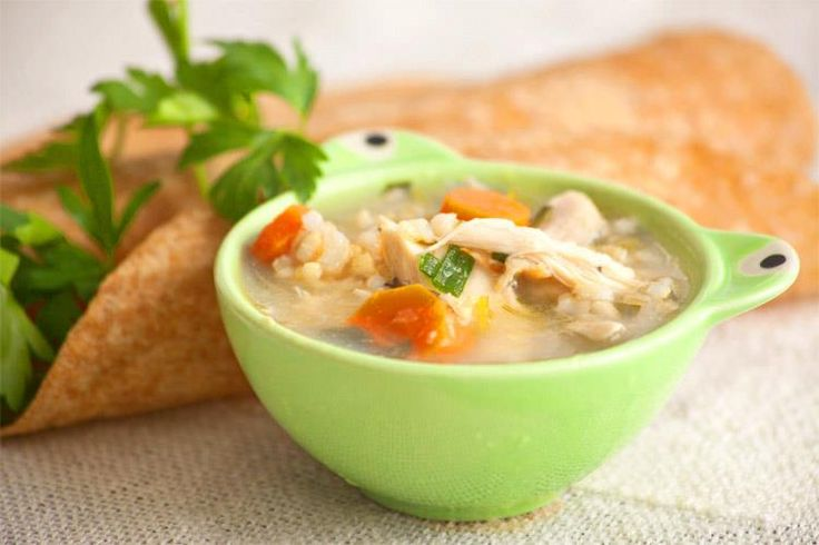 chicken and brown rice all in one pot soup fromgardentosoupbowl.com