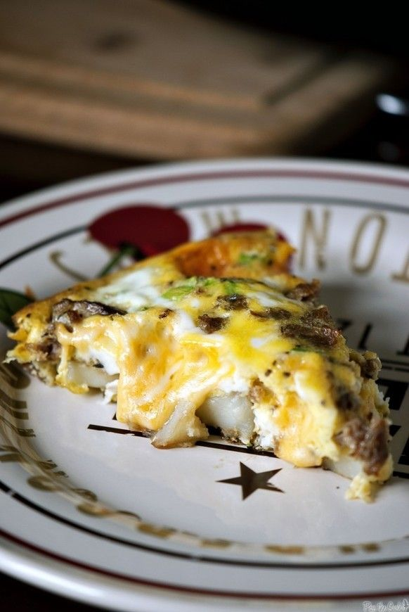 Cheesy Potato Frittata | For the love of food | Pinterest