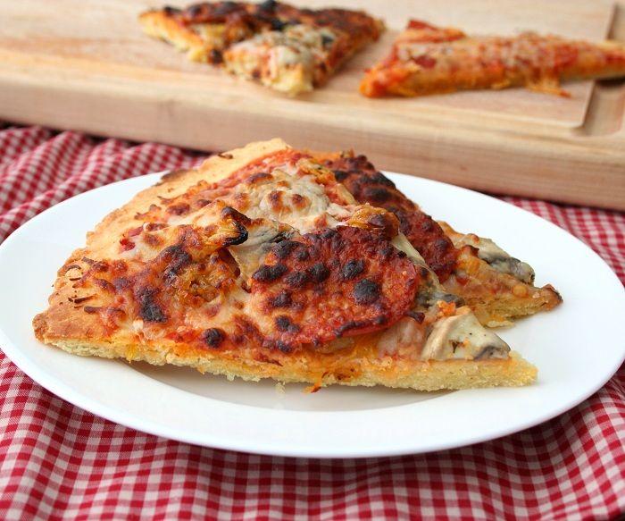 Almond Flour Pizza Crust 3 @Carolyn Ketchum ( Sub whey protein powder with Sunwarrior plant based protein powder)