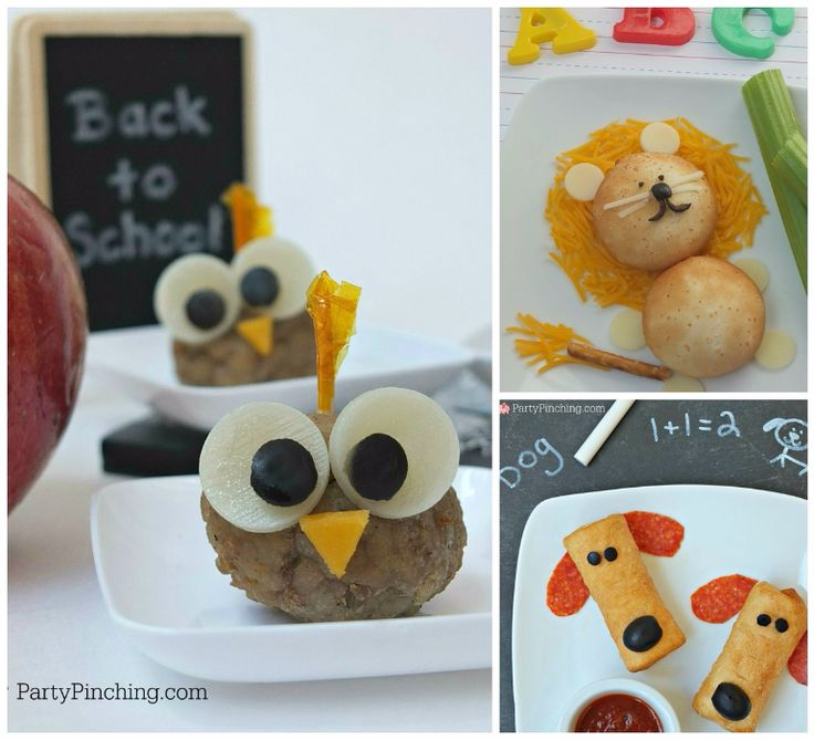 Lions and Owls, and Puppies! Oh my! So many fun after-school snack ideas.