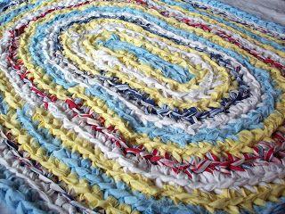 Crocheting Rag Rugs Tutorial : HOW TO crochet a Rag Rug video tutorial Crafty Stuff Pinterest