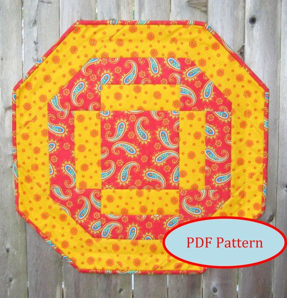 Quick and Easy Octagon Table Topper PDF Quilting Pattern (SMS104pdf)