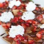 Strawberry and Chocolate Nachos