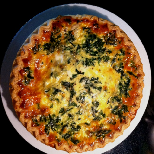 Spinach And Gruyere Quiches Recipe — Dishmaps