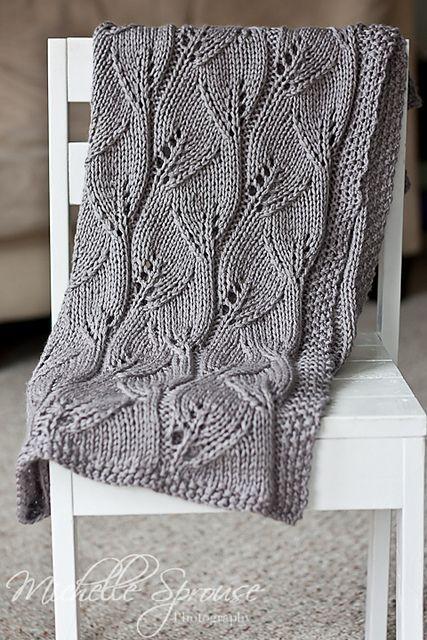 leafy blanket pattern