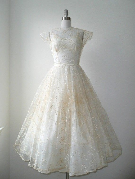 Reserved vintage 1940s pussywillow wedding dress