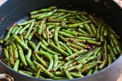 """Spicy Sichuan Style Green Beans (recipe) - """"I shared them with a ..."""