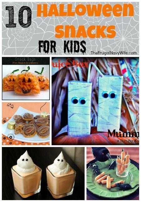 10 halloween snacks for kids for Halloween snack ideas for kindergarteners