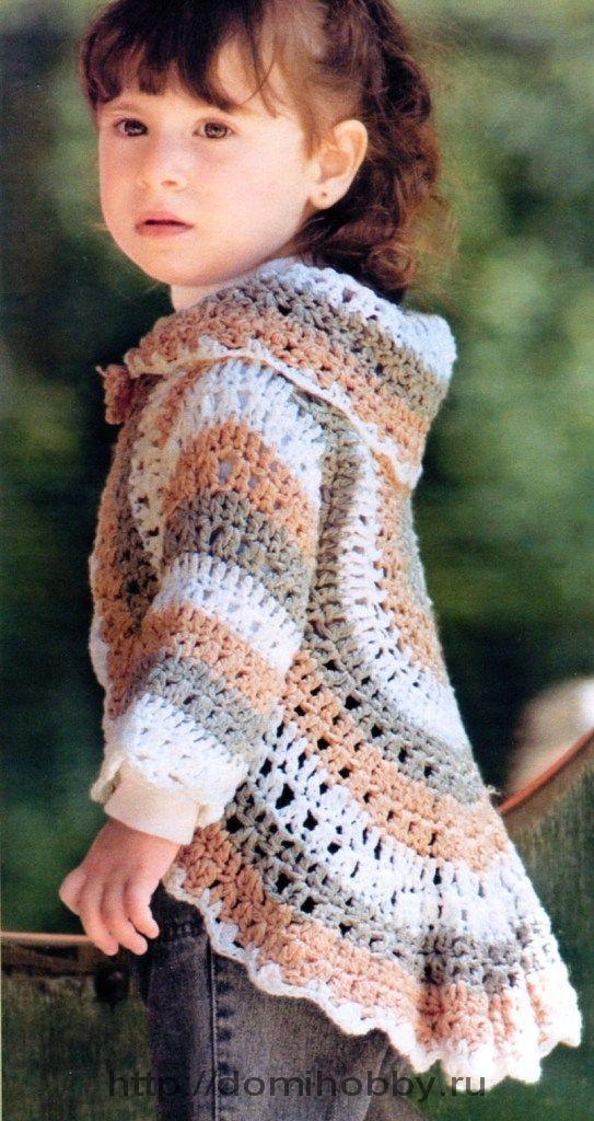 Crochet Circle sweater. 3 - 4 years size