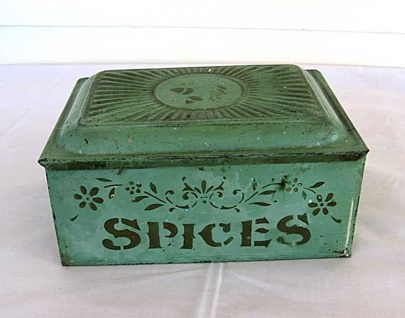Antique Victorian 1890's Tin Spices Box in by kelleystreetvintage, $72.75