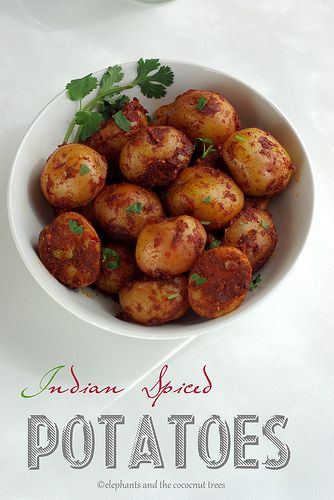 indian spiced potatoes 1 by elephants and the coconut trees, via ...