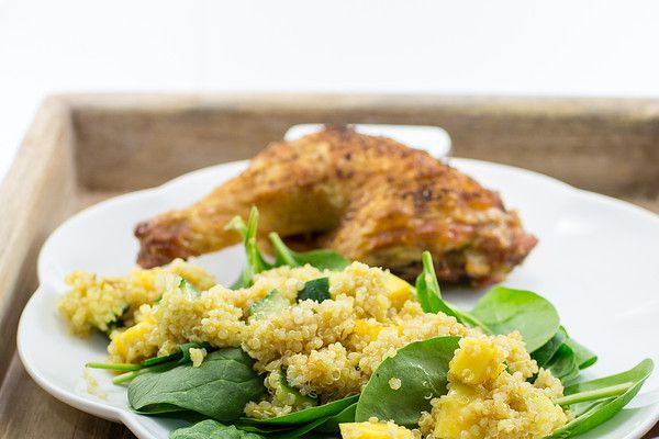 From Sidewalk Shoes, Curried Quinoa Salad with Mango