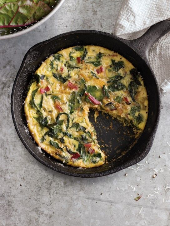 Swiss Chard, Onion & Cheese Frittata | Meatless Meals/Sides | Pintere ...