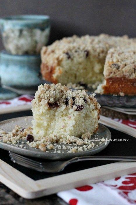 Cranberry Eggnog Crumb Coffee Cake