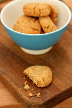 tahini and almond cookies \ david lebovitz