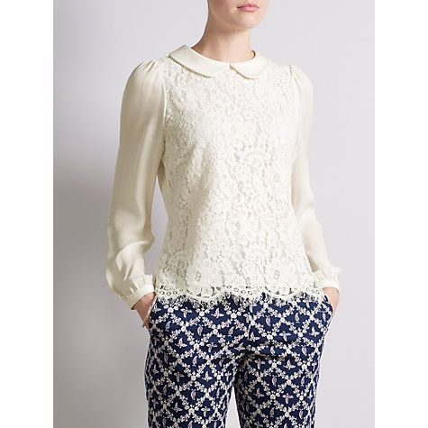 Somerset By Alice Temperley Cream Lace Blouse 117